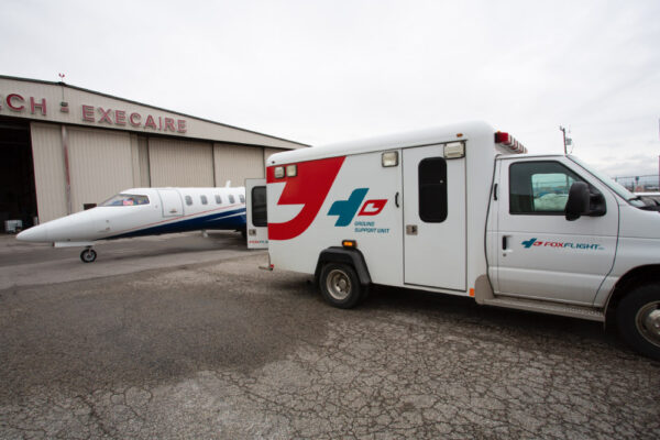 Fox Flight Ambulance and Learjet 40XR